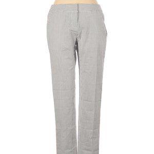 Amanda + Chelsea Pants Gray Stripe Size 0 NEW